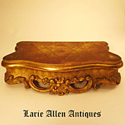 Antique French Gilded Plateau Base