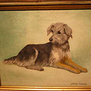 Maud Turner Terrier Dog Painting
