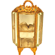 Antique Miniature French Vitrine Display Cabinet Doll Accessory