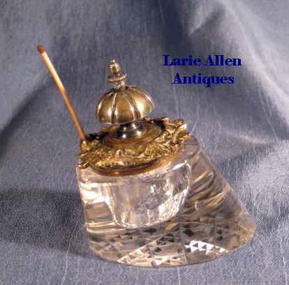 Horse Hoof Cut Glass Inkwell Go-To-Bed