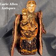 Early 19th c. Austrian Carved Santos Figure St. Joseph Baby Jesus
