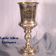 Commemorative Silver Goblet Dated November 5, 1851