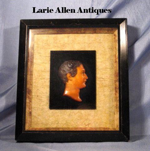 Wax Portrait Miniature Julius Caesar