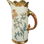Antique Royal Worcester Blush Ivory Pitcher dated 1891