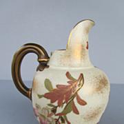 Antique Royal Worcester Porcelain Flatback Jug or Pitcher - dated 1886