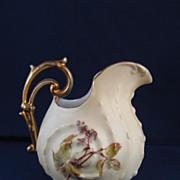 Antique Rudolstadt Porcelain Blush Ivory Creamer - c. 1904