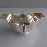 Vintage English Sterling Silver Double-Lipped & Handled Sauce Boat - Birmingham 1914