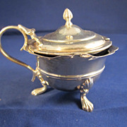Antique English Sterling Silver Mustard Pot w/Liner - Sheffield 1906