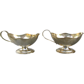 Antique English Sterling Silver Miniature Creamers - Birmingham 1906