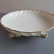 Antique Coalport Porcelain Dragon Footed Bowl - c. 1881-1891