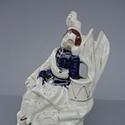 Antique Staffordshire Flatback - Scottish Bandsman - c. 1880