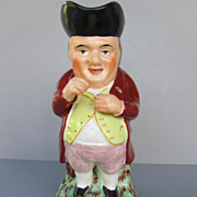 "Antique Staffordshire Toby Jug - ""The Snuff Taker"" - c. 1860"