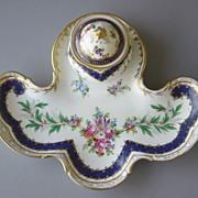 Carl Thieme (Dresden) Porcelain Inkstand -  1875-1901
