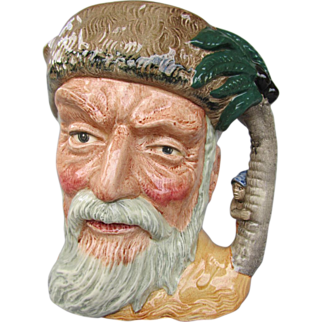 "Royal Doulton Character Jug ""Robinson Crusoe"" Version 1 - No. D6532 1960-1982"