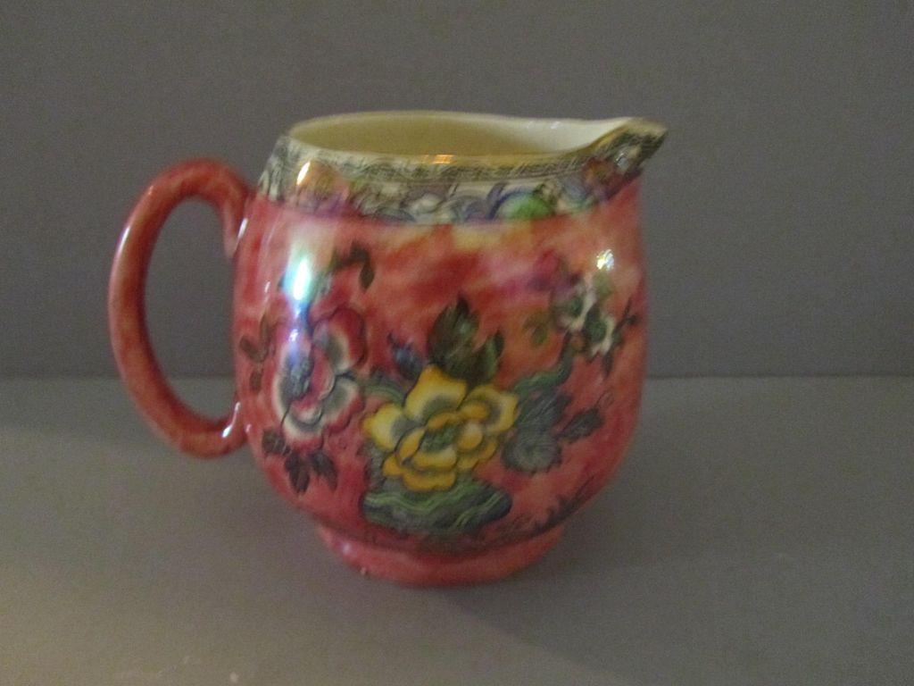 vintage pink lustre pitcher arthur wood c 1945 from larkvaleantiques on ruby lane. Black Bedroom Furniture Sets. Home Design Ideas