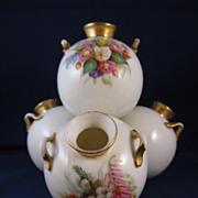 Antique Royal Worcester Porcelain Quad-Vase - Dated 1875