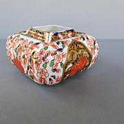 "Antique Royal Crown Derby Porcelain ""Imari"" Squat Vase - dated 1884"