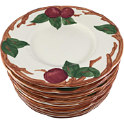 Eleven Franciscan Apple  6.5 in. Bread & Butter Plates