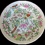 Vintage Enameled Bird Plates, Set of 4