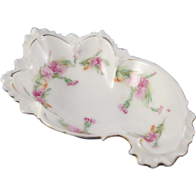 Art Nouveau Beautifully Shaped Floral Bowl