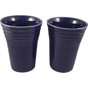 Vintage Fiesta Ware Water Tumblers Original Cobalt, Lot of 2 (1937 – 1946)