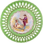 "French Porcelain Cabinet Plate ""Louis Phillipe Motif"""