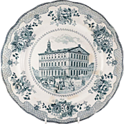 Vintage Commemorative Plate, Faneuil Hall, Boston, Cradle of Liberty, 1742