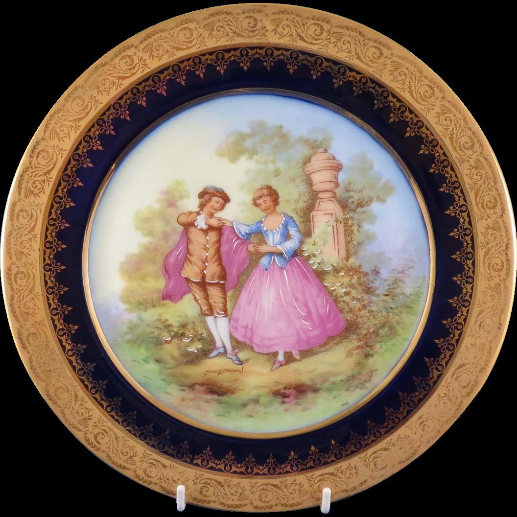 """Gold Encrusted """"Objet D'Art Limoges France"""" Plate"""