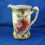 Amazing Victorian Pitcher with Roses