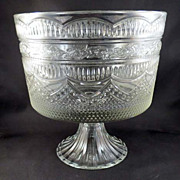 Large Compote on Flared Fluted Base