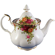 "Royal Albert ""Old Country Roses"" Teapot, 1962 England"