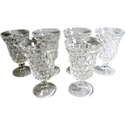 Fostoria American 5 ½ in. Low Water Glass Round Foot Set of 6