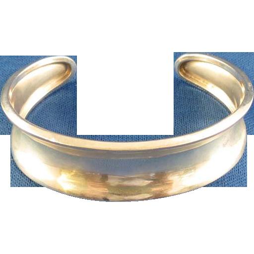 Silver Cuff Bracelet Marked 825