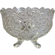 Vintage Clear Pattern Glass Footed Compote