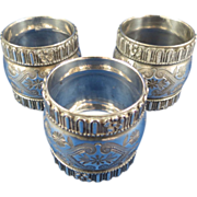 Vintage Ornate Silver Plated Napkin Rings