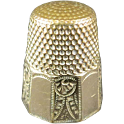 Gold Plated Thimble, Waite, Thresher Co.
