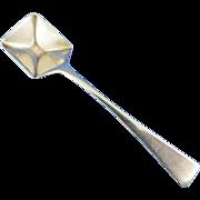 Vintage Sterling Silver Salt Spoon with Shovel Bowl