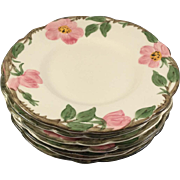 7 Dessert Rose 6.5 in. Bread & Butter Plates