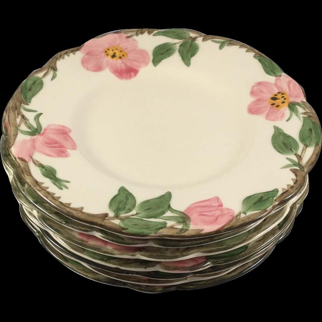 7 Dessert Rose 6.5 in. Bread & Butter Plates