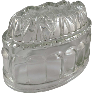 Vintage Glass Oval Jello Mold Made in England