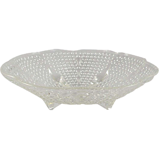 Vintage Thousand Eye Clear Glass Serving Bowl