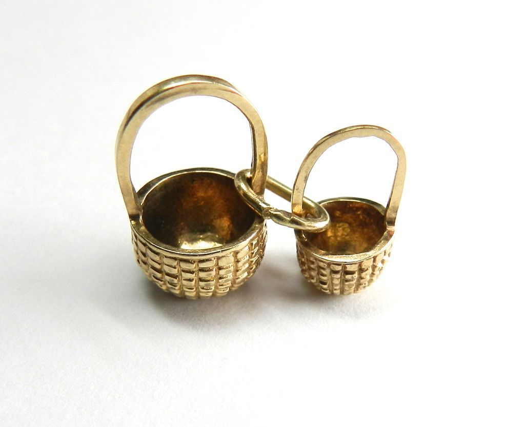 Vintage 14K Nantucket Baskets