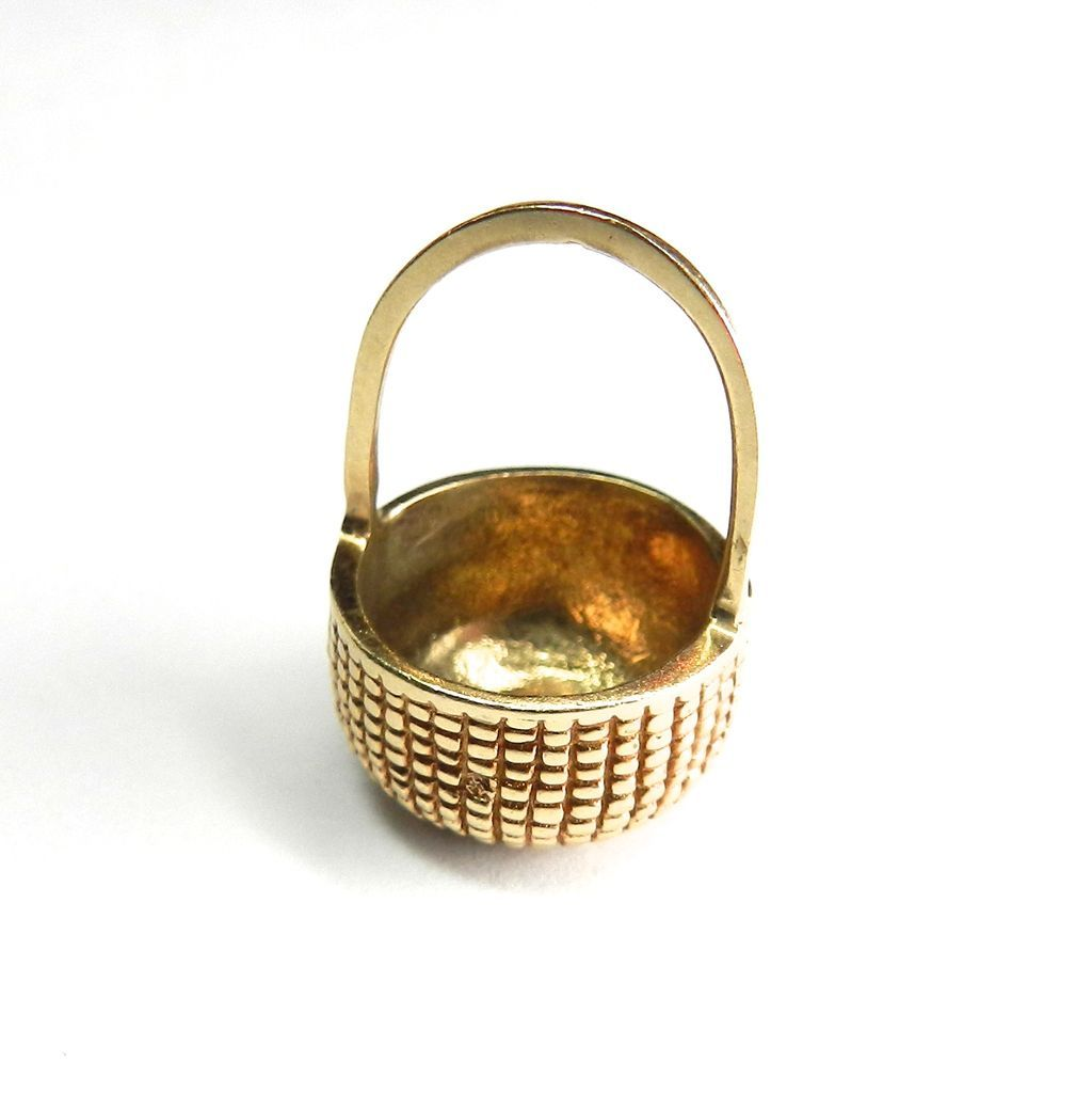 Vintage 14K Nantucket Basket