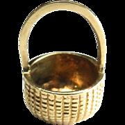 Vintage 14K Nantucket Woven Basket Charm