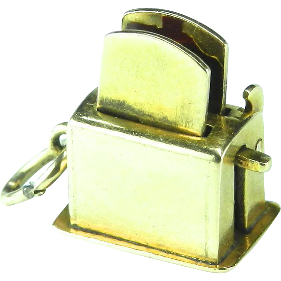 Vintage 14K Toaster Charm-Moveable