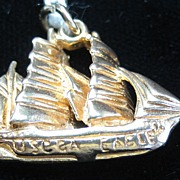 Vintage 14K Gold United States Coast Guard's Eagle Sailing Ship Charm