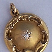 Victorian 14K Gold & Diamond Locket