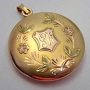 Antique 14K Tri-Color Gold Locket