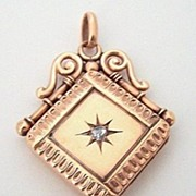 Victorian 9c Fob Locket ~ Rose Cut Diamond