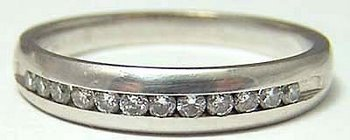 vintage 14K WG Diamond Anniversary / Wedding Band Ring